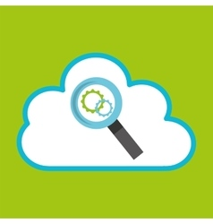 cloud computing searching gear vector image