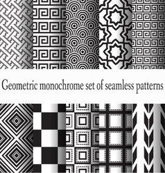 set of monochrome seamless vector image