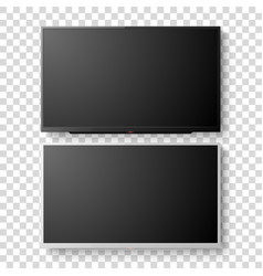 3d realistic white and black blank tv vector image