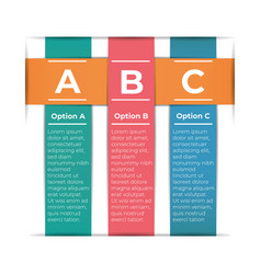 abstract paper infografics template with 3 options vector image