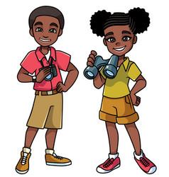 Adventure kids black vector