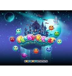 an example of loading screen for a computer game vector image