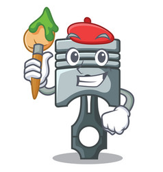 Artist piston in form mascot vector