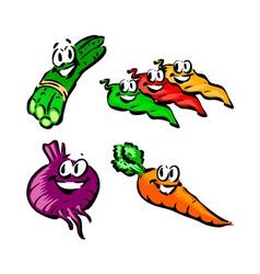 Asparagus jalapeno beet carrot vector