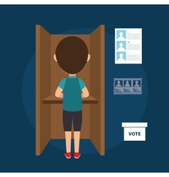 Avatar man voting elections vector