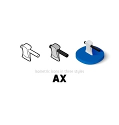 Ax icon in different style vector image