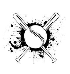 baseball with baseball bat vector image