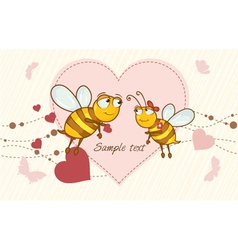 Bees in love vector