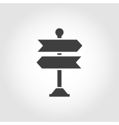 black signpost icon vector image