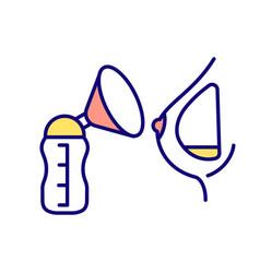 Breast pump rgb color icon vector