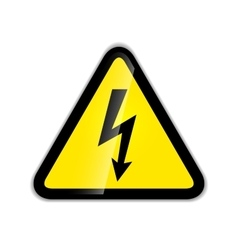 Bright high voltage icon with shadow isolated vector