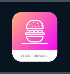 burger eat american usa mobile app button android vector image