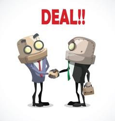 Businessman deal vector