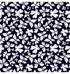 Butterflies Pattern Black and White vector image