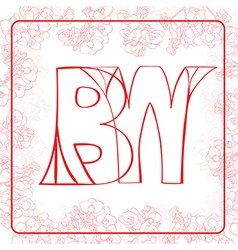 BW monogram vector
