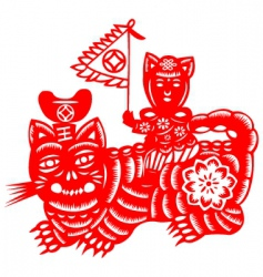 chinese new year tiger vector image