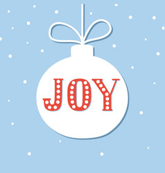 christmas season hand drawn greeting card cute vector image