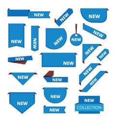 corner labels promotional sticker tab bar vector image