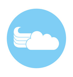 Cute fantasy cloud icon vector