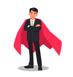 determined businessman or office worker super vector image