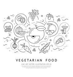 Digital black vegetable icons set vector