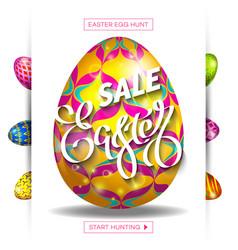 Easter egg sale banner background template 30 vector