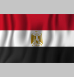 egypt realistic waving flag national country vector image