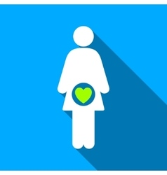Fertility Flat Long Shadow Square Icon vector