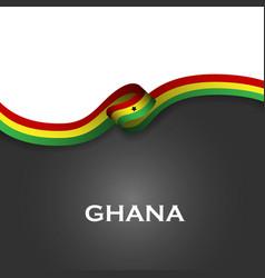 Ghana sport style flag ribbon classic style vector