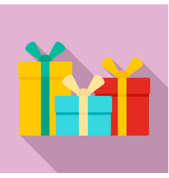 gift box set icon flat style vector image