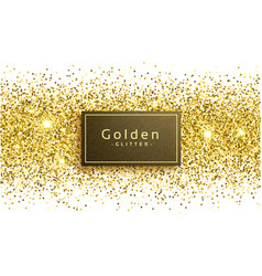 Golden glitter on white background vector