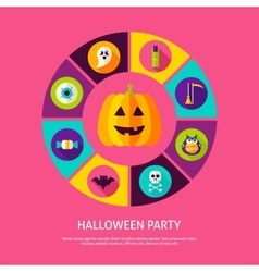 Halloween Party Infographic Concept vector