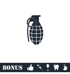 Hand grenade icon flat vector image