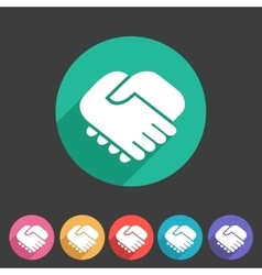 Handshake icon flat web sign symbol logo label vector