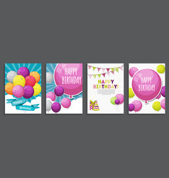 Happy birthday holiday greeting and invitatio vector