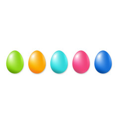 happy easter set of eggs vector image