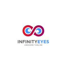 infinity eyes logo design inspiration vector image