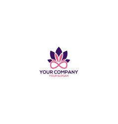 Infinity lotus logo design vector