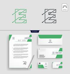 Initial e abstract logo template vector