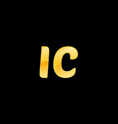 initial letters ic with logo design inspiration vector image