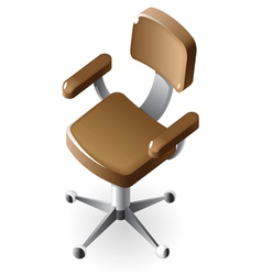 Isometric icon of chair vector image