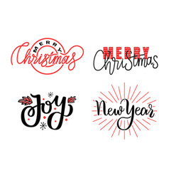 joys merry christmas and happy new year prints vector image