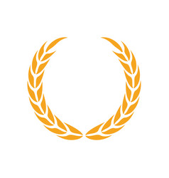 laurel wreath icon design template isolated vector image