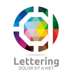 Lettering a rainbow alphabet design vector
