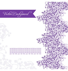 Lilac branches vector