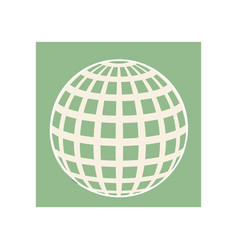 Line globe icon symbol vector