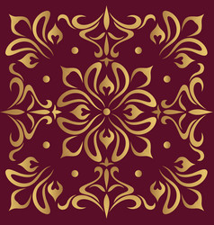 Luxury ornamental design background in golden vector