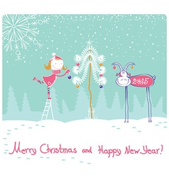 Nice Happy New year card vector