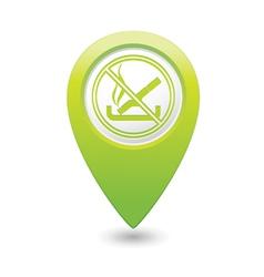NO smoking GREEN map pointer vector