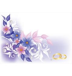 pastel floral vector image